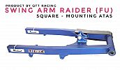 Swing Arm QTT Raider FU 150 Square Mounting Atas Blue