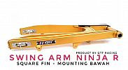 Swing arm QTT Ninja 150 R Square Fin Mounting bawah Gold CNC